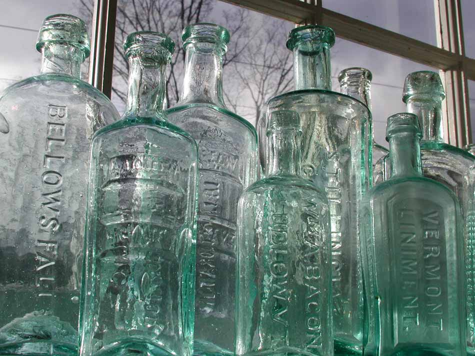 Image of early Vermont medicine bottles