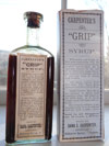 carpenters rare museum quality vermont medicine bottle with label middletown springs