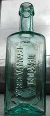 pontiled pain medicine antique bottle