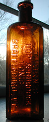 antique old vermont medicine bottle thorns brattleborro tonic bitters bottle