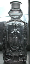 Flint glass fancy antique cologne bottle