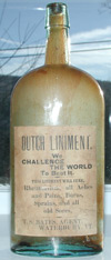 waterbury vermont cure labeled antique old bottle quack medicine