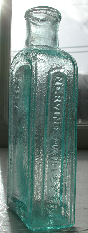 vergennes pain extractor ponitled vermont antique medicine bottle