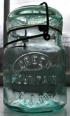 green mountain Vermont antique canning jar