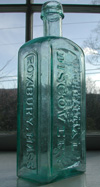 New England pontiled medicine bottle