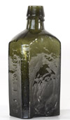 "LONGLEYS ""Great Western Indian"" PANACEA Medicine Bottle -New England Glasshouse c. 1855"