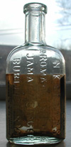nk Brown burlington vermont labeled bitters bottle vermont ginger antique bottle