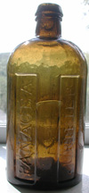 stoddard vermont colored antique medicine panacea bottle newtons