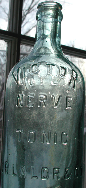 nerve tonic vermont rare antique medicine bottle